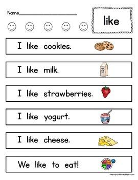 FREEBIE Sight Word Kit - Worksheets - Fluency - Activities