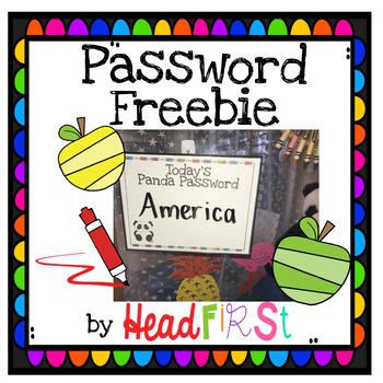 FREEBIE - Sight Word Password
