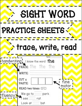 FREEBIE Sight Word Practice with Reading Fluency {Trace, W