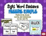 FREEBIE: Sight Word Sentence Flashcards & Trace and Read C