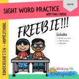 FREEBIE - Sight Word Writing Cards - FREEBIE
