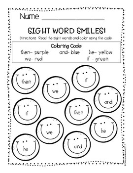 FREEBIE- Sight Words