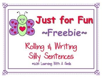 Sentence FREEBIE - Fun with  Silly Sentences - Roll & Writ