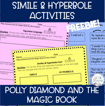 FREEBIE - Simile & Hyperbole Sort - Polly Diamond and the Magic Book