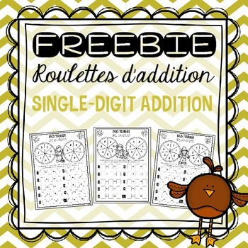 FREEBIE Single-digit Addition Spinners/Roulettes d'additio