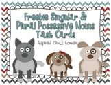 FREEBIE Singular and Plural Puppies Possessive Nouns Task Cards