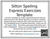 FREEBIE Sitton Spelling Express Exercises Editable Template