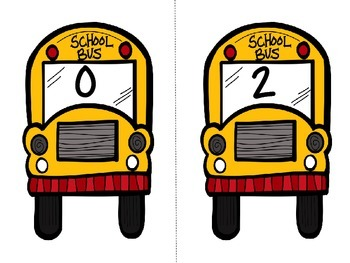***FREEBIE*** Skip Counting School Buses (Counting by 2's)
