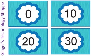 FREEBIE!  Skip Counting by 10's * Blue Wave theme!