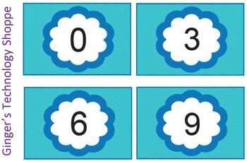 Skip Counting by 3's * Blue Wave theme!