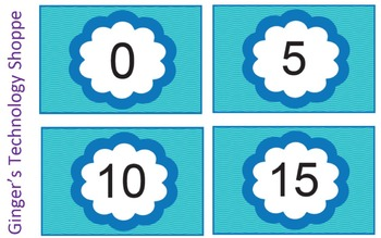 FREEBIE! Skip Counting by 5's * Blue Wave theme!
