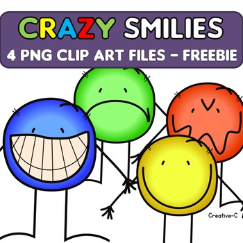 FREEBIE Smiley Clip Art - happy face  - Commercial educational Use {Creative-C}