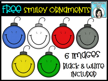 FREEBIE Smiley Face Ornaments - Commercial Use Okay!