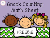 {FREEBIE Snack Counting Math Sheet}