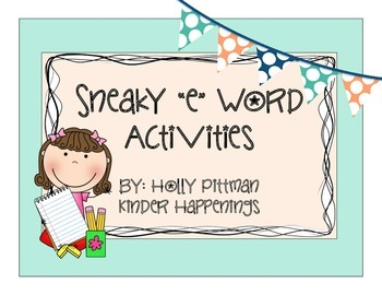FREEBIE Sneaky E Word Activities