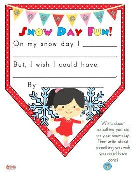 FREEBIE Snow Day Pennant Banner Worksheet