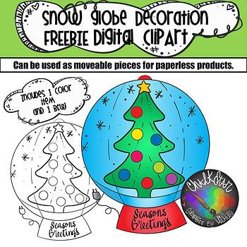 FREEBIE- Snow Globe Inflatable Decoration Clip Art
