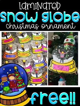 FREEBIE- Snow Globe Ornament Craft