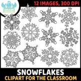 FREEBIE - Snowflakes Clipart (Lime and Kiwi Designs)