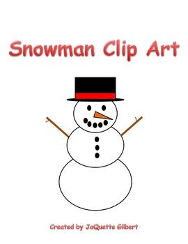 FREEBIE Snowman Clip Art
