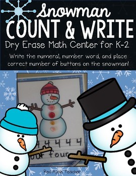 FREEBIE--Snowman Count & Write Cards for PK-1