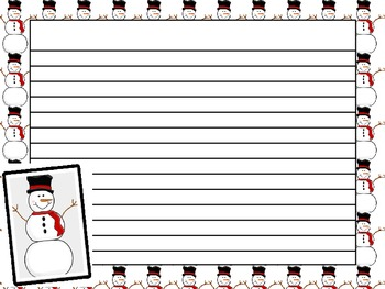 (FREEBIE!) Snowman Writing Paper