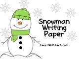 FREEBIE: Snowman Writing Paper
