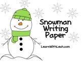 FREEBIE: Snowman Writing Paper