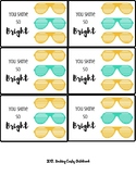 So Bright - Sunglasses gift tags!