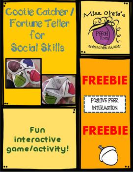 FREEBIE - Social Skills Cootie Catcher / Fortune Teller Activity
