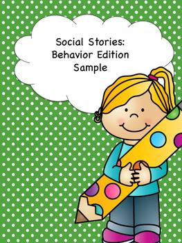 FREEBIE- Social Stories: Behavior Edition Sample