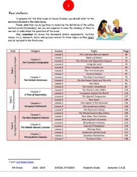 FREEBIE Social Studies US History Lesson Topics - Student's Guide