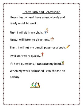 FREEBIE: Social story for getting ready to learn-work-play