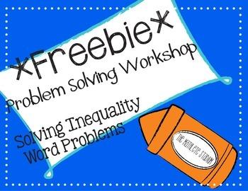 FREEBIE: Solving Inequalities Problem Solving Workshop (Middle School Math)