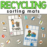FREE Recycling and Trash Sorting Mats for Students with Sp