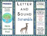 FREEBIE Sound Letter Scramble Game