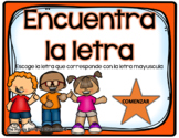 Spanish Alphabet Match Lowercase to Uppercase PowerPoint Game