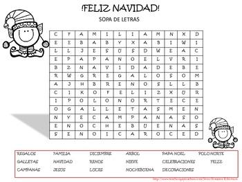 FREEBIE: Spanish Christmas Fun Pack