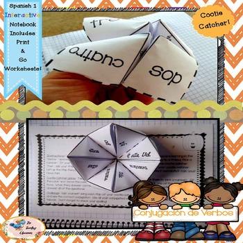 Spanish Conjugation - Interactive Notebooks  {FREE}