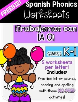 FREEBIE! Spanish Phonics|Trabajemos con la O|Fonética