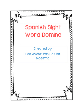 FREEBIE Spanish Sight Words Domino