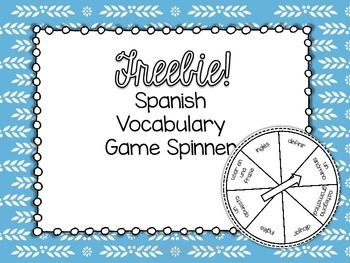 FREEBIE! Spanish Vocabulary Spinner