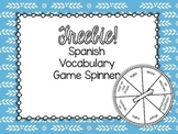 FREEBIE! Spanish Vocabulary Spinner