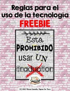 FREEBIE Spanish poster