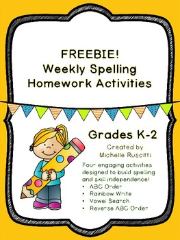 FREEBIE!  {Spelling Activities K-2}