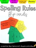 FREEBIE! Spelling Rules Flip Cards
