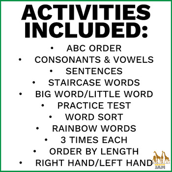 FREEBIE  Spelling Task Cards for Any Word List 2nd 3rd 4th 5th Grade