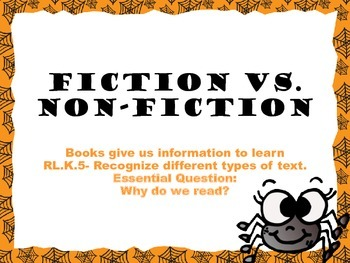 FREEBIE! Spiders and Bats Fiction vs. Non-Fiction
