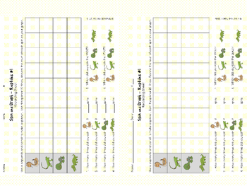 FREEBIE Spin and Graph No Prep - Reptiles and Amphibians (3 SETS)