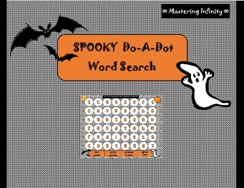 **FREEBIE** Spooky Do-A-Dot Word Search